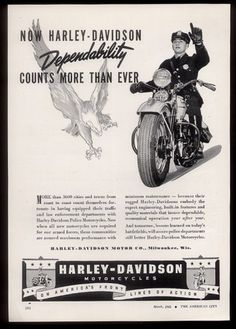 1943 Harley-Davidson police motorcycle