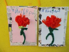 Preschool Crafts, Collage Art, Poppies, Art Projects, November, Activities, Blog, School Ideas, November Born