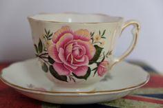 Large Rose Tea Cup Colclough Tea Cup English Bone China