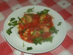 involtini di zucchini con tonno, olive verdi e capperi