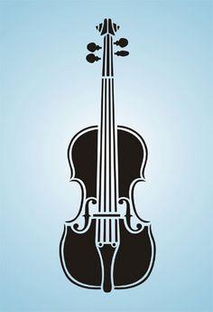 La música del violín de la plantilla de la plantilla Unido