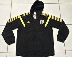 Rare NWT ADIDAS Columbus Crew MLS 2013  BLACK Hoodie Rain Jacket  Men's Large  #adidas #ColumbusCrew