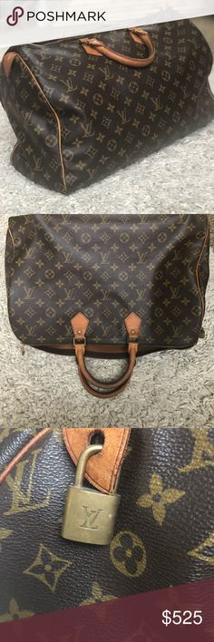 7272f65f854d Louis Vuitton Speedy 40 This is an authentic vintage bag so it has been pre  loved