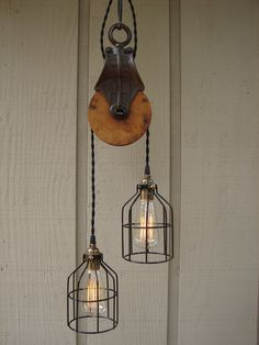 barn pulley light fixture - Google Search
