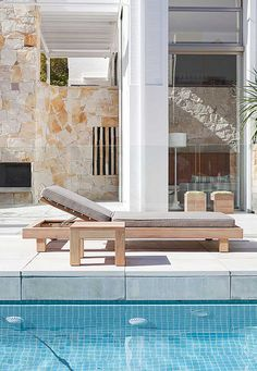 Summer Pool Lounge with Chunky Side Table  www.robertplumb.com.au