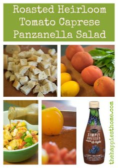 Roasted Heirloom Tomato Caprese Panzanella Salad with Balsamic #EverydayMarzetti #spon