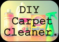 So we have been spring cleaning around here (slowly but surely). One of the projects on my list was to work on a few dark spots on the l. Clean Space, Diy Carpet Cleaner, Natural Carpet, Life Words, Cleaners Homemade, Household Cleaners, Natural Cleaning Products, Dark Spots, Spring Cleaning