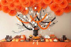 Mesa de postres para tu casamiento color naranja