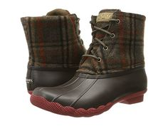 Sperry Top-Sider Saltwater Prints Brown/Wool Plaid - Zappos.com Free Shipping BOTH Ways