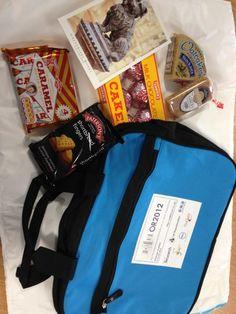 Goodie bag giveaway via Twitter #or2012bags tag.