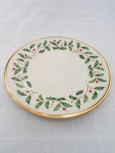 Lenox Holiday Dinner Plate by WeathervaneHill on Etsy & Lenox Holiday Saucer by WeathervaneHill on Etsy | Lenox Holiday ...