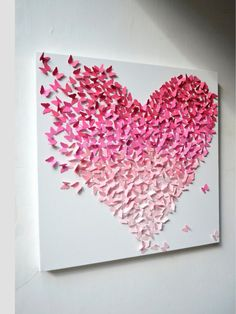 Butterfly heart canvas