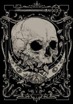 ubernoir: by Raf The Might - Cosmic Geometry Dark Fantasy Art, Dark Art, Skull Wallpaper, Dark Wallpaper, Art Sinistre, Collage Mural, Satanic Art, Arte Obscura, Skeleton Art