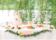 Love this rustic dessert table!