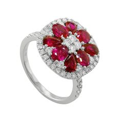 This Stunning Ruby Diamond Ring will be 50% OFF during our Luxury Jewelry Show August 28-29 at The Gem Collection.
