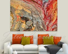 Fine Art Print of on 100% cotton canvas of Original Abstract Painting: Boiling Lava by Fine Artist Julia Apostolova  Featured in the group ''Abstract and surreal art'' on FAA Comment on FAA for this painting:  This is stunning Julia! Love how you make the colours and patterns explode in beautiful expressive abstract! Superb! Title of the Original Abstract Painting: Boiling Lava  It printed on 100% cotton canvas. The Print Options are: 1 - No wrap (Unstretched) Comes Rolled In A Tube in your…