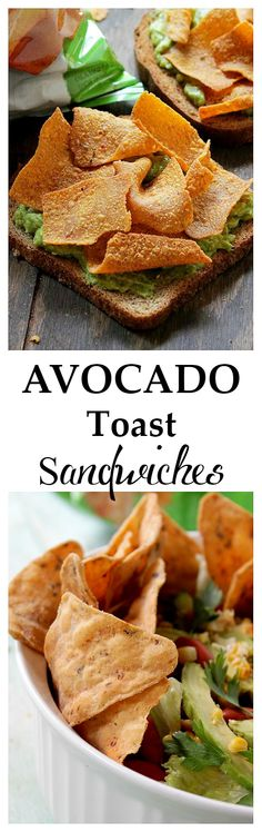 Toast Sandwiches - Seasoned mashed avocado served on a whole grain ...