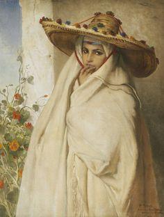 Jean-François Portaels (1818-1895), Aouïcha, Huile sur toile