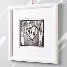 Personalised Woodcut Print - home accessories