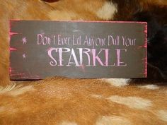 Wood Sign Girly Bling Rhinestone Shabby Chic by CowgirlFlairStore, $14.50