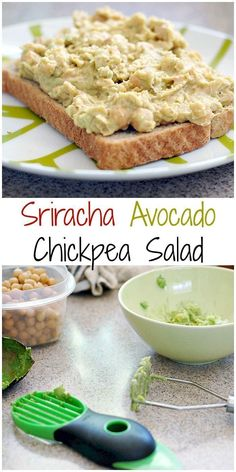 Think you have not time to make lunch? Try this Quick and Easy Sriracha Avocado Chickpea Salad - it's vegan and your family will love it!