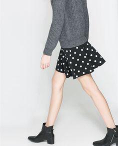 Image 2 of POLKA DOT SKIRT from Zara