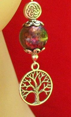 Silver Tree of Life Celtic Charm Earrings Handmade