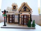 A Christmas LEGO Cottage