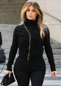 Kim k blonde hair