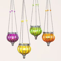 Small Melon Lanterns eclectic outdoor lighting to hang in the trees - @ Cost Plus World Market Eclectic Outdoor Lighting, Outdoor Decor, Outdoor Living, Outdoor Stuff, Outdoor Projects, Outdoor Ideas, Candle Lanterns, Candles, Moroccan Bedroom