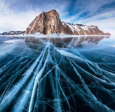 Lac Baikal glacé - Sibérie