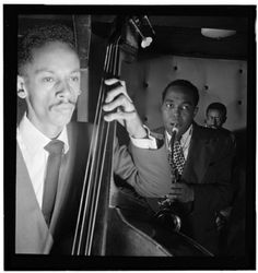 Portrait of Charlie Parker, Tommy Potter, and Max Roach, Three Deuces, New York, N.Y., ca. Aug. 1947