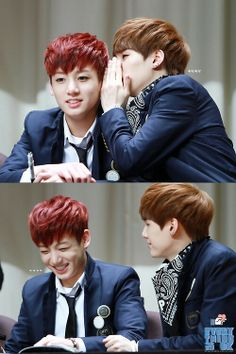 Whatbdid you tell him? See what you're teaching him as a hyung!! | Suga and Jungkook #BTS