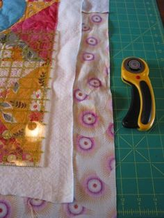 Detailed instructions on squaring up a quilt