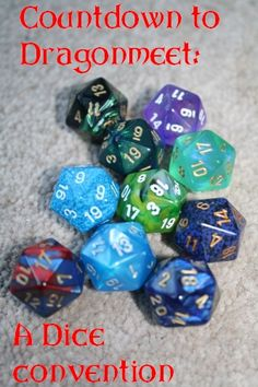 Countdown to Dragonmeet: the dice convention