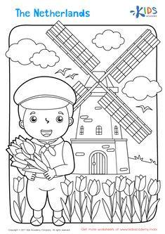 The Netherlands Coloring Page