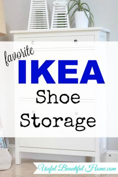 Favorite Ikea Shoe Storage - a great piece of furniture to help you conceal the shoes and control the clutter in a small space. Shoe Organizer Ikea, Ikea Shoe Storage, Shoe Storage Solutions, Diy Storage, Organizers, Small Space Organization, Home Organization, Furniture Makeover, Diy Furniture