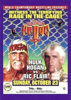 Wcw Ppv, Wwf Poster, Halloween Havoc, Halloween Fun, Wrestling Posters, Wwe Hulk Hogan, World Championship Wrestling, Ric Flair, Lucha Libre