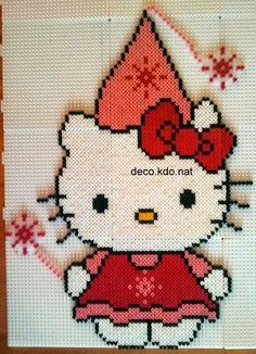 Perler Bead Hello Kitty