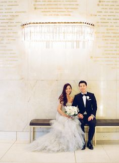 Photography: Esther Sun - esthersunphoto.com  Read More: http://www.stylemepretty.com/2014/10/28/classic-wedding-at-the-los-angeles-music-center/