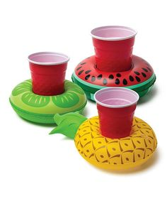 Another great find on #zulily! Tropical Fruits Drink Float - Set of Three #zulilyfinds