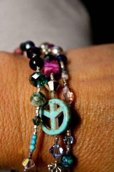 Bohemian Wrap Anklet Bracelet Necklace Multicolor by LostCoastArts
