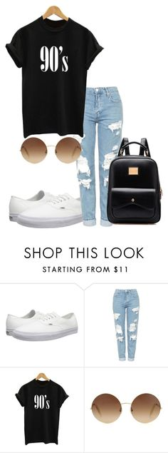 """""""Untitled #5"""" by haybird917 on Polyvore featuring Vans, Topshop and Victoria Beckham"""