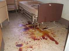 """The """"Bloody Bed"""". Abandoned Lakeland Mental Asylum, NJ"""