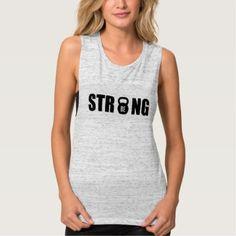 #women - #Be Strong   Women's Muscle Tank Top