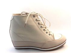 New Women's Ladies Ankle Lace Up Zip Pump Wedge Boots Trainers