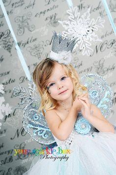 snowflake princess christmas tutu dress and crown @Kelly Teske Goldsworthy Willig