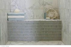 Breath of Fresh Air...Walter Zanger.... like the contrasting tiled bench in shower...looks like a piece of furniture