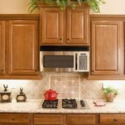 Microwave above stove depth stacked raised and bumped out ...