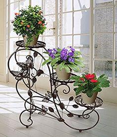 HLC 3 Macetas y macetero modelo 73 cm plantas soporte estantería - Estantería soporte para plantas flores,color bronce: Amazon.es: Hogar